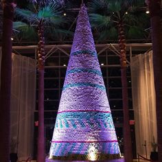 World's largest macaron Christmas tree at 22 feet at The Diplomat Hotel