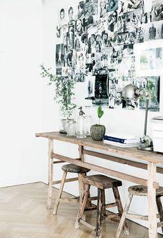 Modern Home Office Inspiration · Workspace Design · Creative Studio · Artist Desk · Plants Scandinavian Interior Design, Scandinavian Home, Rental Decorating, Interior Decorating, Workspace Inspiration, Blog Inspiration, Workspace Design, Interiores Design, Apartment Living