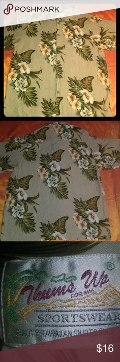 Thumbs up sportswear shirt Quality Hawaiian shirt, in good condition.  Tag is gone.  Fits like medium. Thumbs Up Shirts Casual Button Down Shirts