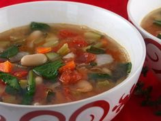 This light and healthy Tuscan Vegetable Soup recipe is perfect detox after eating heavy holiday fare. Photographs, Weight Watchers Points and nutritional information is included. Tuscan Vegetable Soup Recipe, Turkey Vegetable Soup, Tuscan Soup, Veggie Soup, Vegetable Recipes, Vegetable Ideas, Turkey Soup, Great Recipes, Dinner Recipes