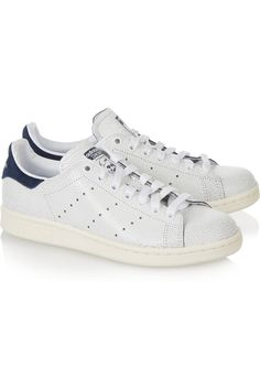 adidas stan smith originals cracked leather blue