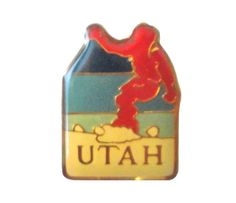 """UTAH STATE Ski vintage enamel pin lapel badge UT powder mountain by VintageTrafficUSA  11.00 USD  A vintage UTAH pin used but excellent condition. Measures: approx 1"""" Add inspiration to your handbag tie jacket backpack hat or wall. Have some individuality = some flair! -------------------------------------------- SECOND ITEM SHIPS FREE IN USA!!! LOW SHIPPING OUTSIDE USA!! VISIT MY STORE FOR MORE ITEMS!!! http://ift.tt/1PTGYrG FOLLOW ME ON FACEBOOK FOR SALE CODES AND UPDATES…"""