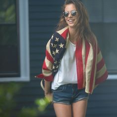 of July Shoot America Pride, Best Tan, Hippie Life, Summer 2016, Fourth Of July, American Girl, Lisa, Stripes, Women's Fashion