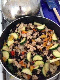 Clean eating food prep