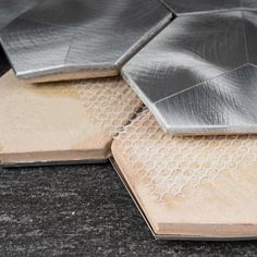 "Supreme Tile 3"" x 3"" Metal Honeycomb Mosaic Tile | Wayfair Backsplash Panels, Fireplace Surrounds, Bathroom Wall, Mosaic Tiles, Honeycomb, Supreme, Home Improvement, Metal, Mosaic Pieces"