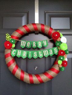 Custom Rustic Christmas Wreath
