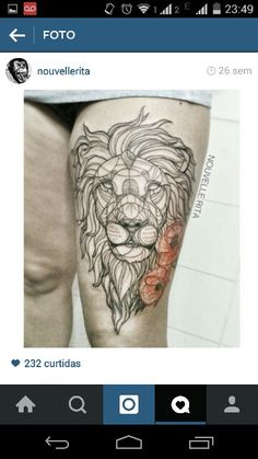 Tattoo geométrica geometric lion beauty pretty amazing