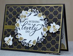 Scrapbooking, Scrapbook Cards, Golden Honey, Bee Cards, Bee Theme, Stamping Up Cards, Butterfly Cards, Cards For Friends, Paper Cards