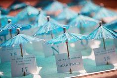 62 Creative Beach Wedding Escort Cards Ideas | HappyWedd.com
