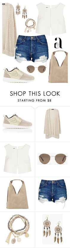 """""""Shorts."""" by schenonek ❤ liked on Polyvore featuring NIKE, Violeta by Mango, Nico, Jil Sander, Madewell, INZI, Topshop, DesignSix and Boohoo"""