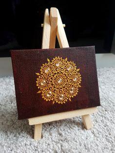 Henna art on canvas by ShopMehndi – Henna 2020 Acrylic Painting Flowers, Dot Art Painting, Acrylic Painting Canvas, Henna Canvas, Henna Art, Mandala Artwork, Mandala Drawing, Mehndi Decor, Mehendi