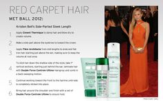Kristen Bell stood out in orange last Monday at the 2012 Met Ball. Follow our steps to recreate this red carpet hair with Kérastase. Red Carpet Hair, Hair Iron, Hair Starting, Kristen Bell, Damp Hair Styles, Blow Dry, The Crown, Spa Day, How To Apply