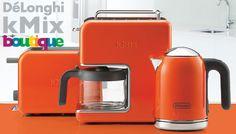 デロンギDeLonghiおしゃれデザイン人気コーヒーメーカーkMixドリップコーヒーメーカーCMB6-ORオレンジ citynet