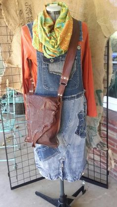 Overalls upcycle by Tammy Goff  (ohsofunky)