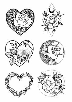 New Rose Heart Tattoo Drawings Ideas