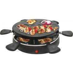 Raclette Grill für 6 Personen 1.200 Watt Party Grill Tischgrill Elektrogrill