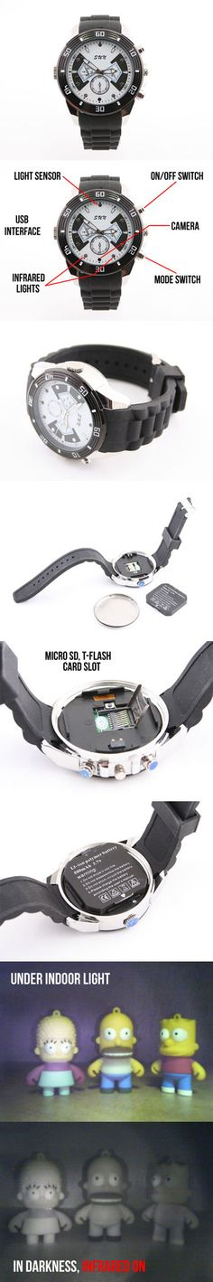 Auto Infrared Night Vision Spy Camera Watch  http://www.usbgeek.com/products/auto-ir-spy-camera-watch