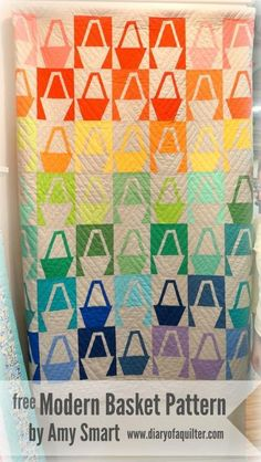 7 x 9 inches  (7) Name: 'Quilting : Modern Baskets by Amy Smart