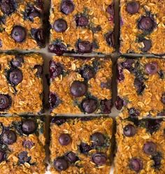 Simple Quinoa Breakfast Bars with blueberries, almond butter or peanut butter, and maple syrup. Protein PACKED, easy for an on-the-go breakfast on busy mornings, freezer friendly, and made of whole foods. {Gluten free, vegan, dairy free, clean eating} Recipe at wellplated.com | @wellplated