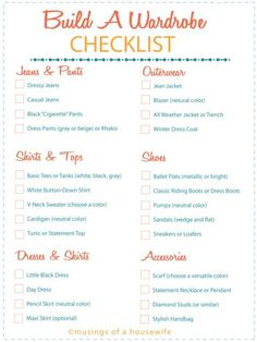 How To Create the Perfect Wardrobe - CHECKLIST & more tips!