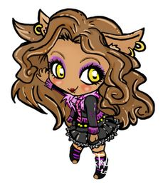 A nice drawing of Clawdeen