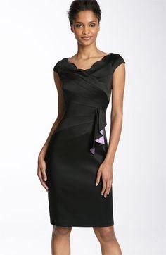 Little Black Dress. Fun ruffle. Great neckline.