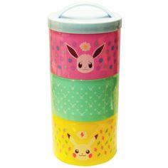 Amazon.com: Pokemon bottle type three -stage lunch box 480ml Pikachu u0026 Eevee PMLC183: Home & Kitchen