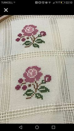 123 Cross Stitch, Cross Stitch Borders, Cross Stitch Flowers, Cross Stitch Charts, Cross Stitch Designs, Cross Stitch Patterns, Embroidery Stitches Tutorial, Embroidery Designs, Blackwork