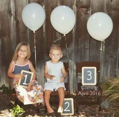 Ideas baby announcement third families for 2019 Sibling Baby Announcements, 3rd Pregnancy Announcement, Baby Announcement Pictures, Third Pregnancy, Pregnancy Photos, Third Child Announcement, Erwarten Baby, Baby Love, Announcing Baby Number 3