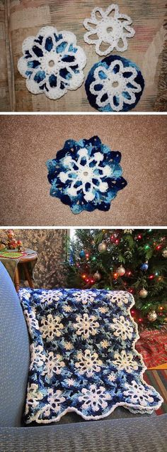 Gorgeous Dusty Snowflakes Throw