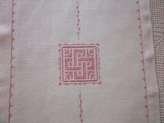 particolare centrale striscia da tavola Punto Perugino