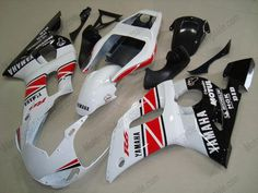 Yamaha YZF-R6 1998-2002 Injection ABS Fairing - Others - White/Red/Black