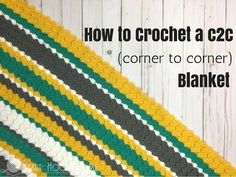 5 Tips for Changing Colors in Corner to Corner Crochet (C2C), a post from the blog Heart · Hook · Home on Bloglovin'