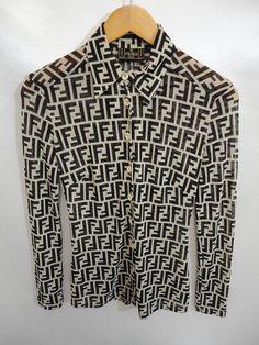 Vintage Fendi Zucca Fendi Monogram Fendi Italy Fendi Long Sleeve Fendi Fendizucca Bossbabe Vintage Vintagestyle Madein Fendi Long Sleeve Shirts Shirts