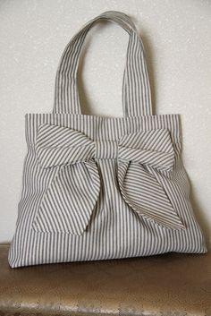 Nautical Stripes Carpet Bag