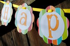 paper banner for any occasion Back To School Art, Art School, Happy Birthday Font, Paper Banners, Banner Ideas, Garlands, Birthday Party Themes, Clever, Cricut