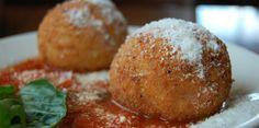 #RECETA Arancini (Bolitas de arroz con salsa marinara) – Animal Gourmet