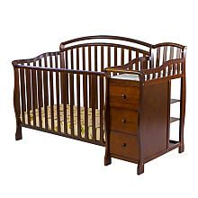 Dream on Me Hailee 3-in-1 Crib and Dressing Table Combo - Espresso