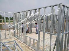light steel construction, different kinds of steel construction Steel Buildings, Framing Materials, Villa, Construction, Lighting, Frame, Home Decor, Home Plans, Building