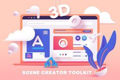 TOOLKIT- UI Elements Scene Creator --- Fun and vibrant collection of 76 UI elements that will help you create eye-catching website illustrations! This scene generator is designed in super Scene Creator, The Creator, Illustrator Cs5, Illustrator Tutorials, Website Illustration, Illustration Art, Ui Elements, Design Elements, Photoshop Design