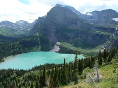 The view of Grinnell Lake en route to Grinnell Glacier. An amazing experience!