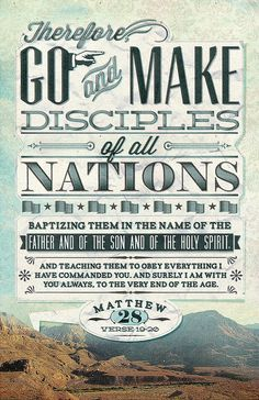 Go and make disciples... by MattCCC, via Flickr