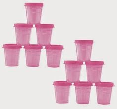 HI-HO HI-HO WITH TUPPERWARE WE GO: Online Exclusive Classic Sheer Midgets Set These very handy sheer midgets in this lovely pink frosting color are now an online exclusive closeout item. This item is not available in the Tupperware catalog or from your consultant. This item is only available to you online. Click on this link to my website to place your order www.my.tupperware.com/lindacwilson