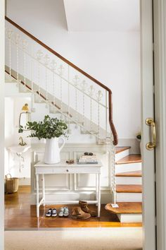 Cottage Entryway, Cosy, Home And Garden, Stairs, Bed, Furniture, Home Decor, Decoration, Rustic Style