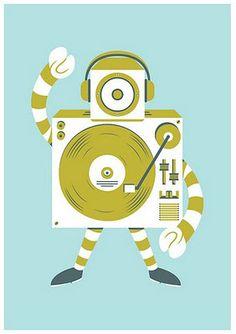 Turntable Robot. http://www.pinterest.com/TheHitman14/phonograph-kitsch/