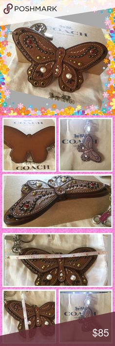 Spotted while shopping on Poshmark: Coach leather Butterfly Keychain! #poshmark #fashion #shopping #style #Coach #Accessories