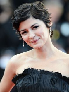 Audrey Tautou Hair 2013 Audrey tautou at the venus in Audrey Tautou, Curly Pixie Hairstyles, Curly Hair Styles, Cool Hairstyles, Natural Hair Styles, 1920s Hair Short, Short Hair Cuts, Brünetter Pixie, Really Short Hair