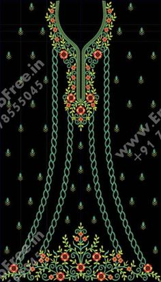 Embroidery Neck Designs, Embroidery Dress, Machine Embroidery, Bell Design, Beautiful Black Dresses, Designs For Dresses, Pakistani Dress Design, Embroidered Clothes, Fabric Painting