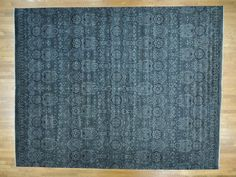 "12'x15'3"" Oversize Tone On Tone Geometric Agra Hand Knotted Rug Sh29673"