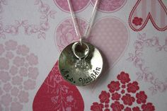 FREE US SHIPPING Custom Mrs Necklace Sterling by FineNFleurie, $45.00